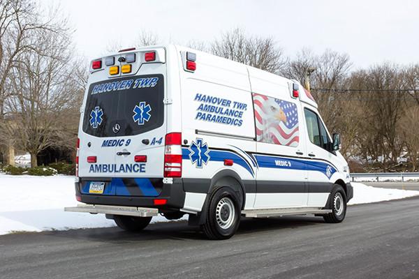 Hanover Twp - Demers EXE Type II Ambulance - passenger rear
