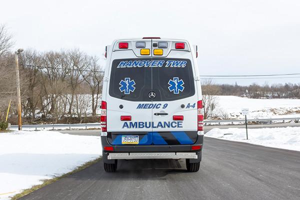 Hanover Twp - Demers EXE Type II Ambulance - rear