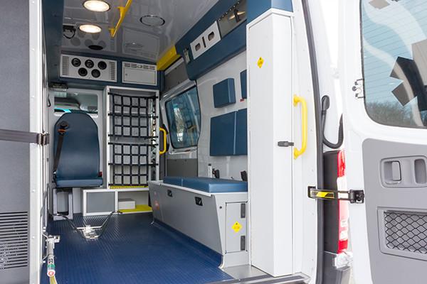 Hanover Twp - Demers EXE Type II Ambulance - interior passenger