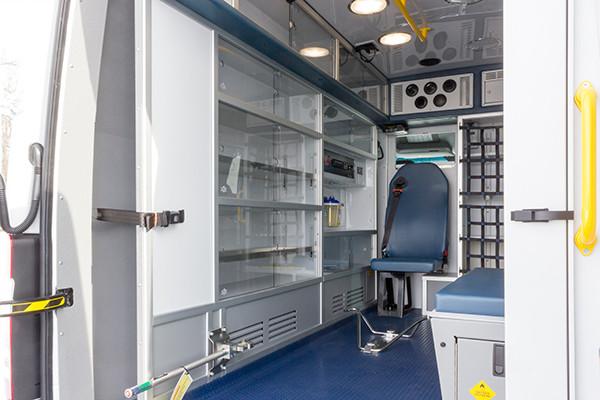 Hanover Twp - Demers EXE Type II Ambulance - interior driver