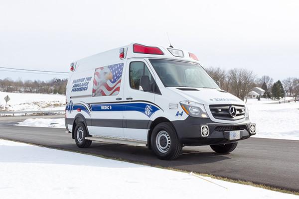 Hanover Twp - Demers EXE Type II Ambulance - passenger front