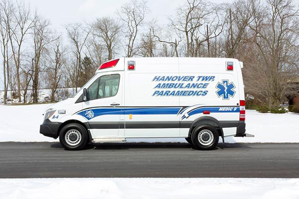 Hanover Twp - Demers EXE Type II Ambulance - driver side