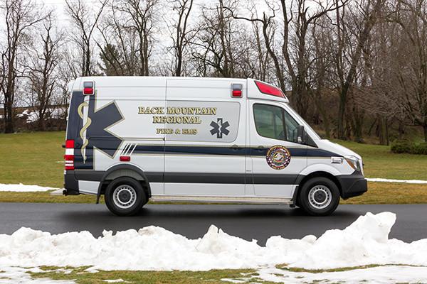 Back Mtn. Fire & EMS - Demers EXE Type II Ambulance - passenger side