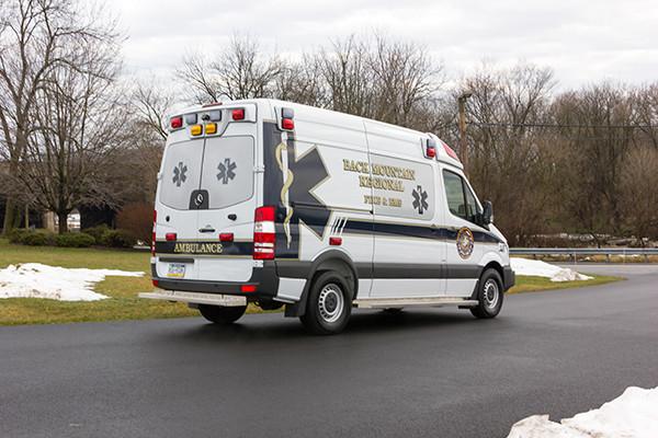 Back Mtn. Fire & EMS - Demers EXE Type II Ambulance - passenger rear