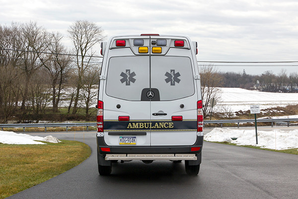Back Mtn. Fire & EMS - Demers EXE Type II Ambulance - rear