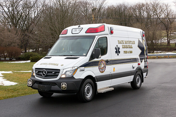 Back Mtn. Fire & EMS - Demers EXE Type II Ambulance - driver front