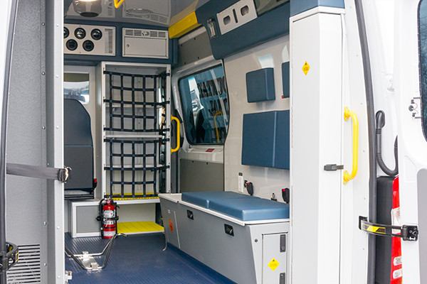 Back Mtn. Fire & EMS - Demers EXE Type II Ambulance - rear interior passenger