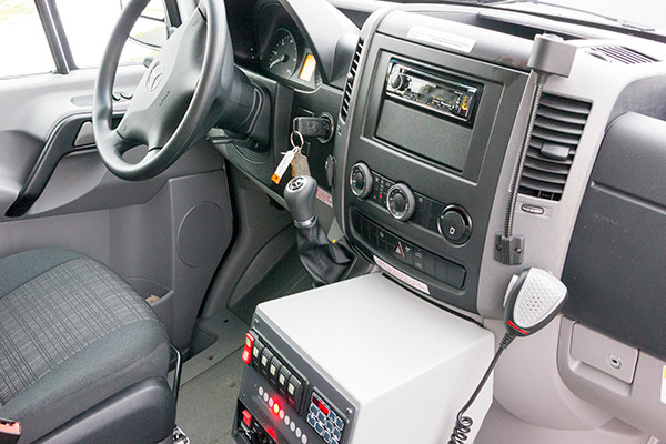 Back Mtn. Fire & EMS - Demers EXE Type II Ambulance - cab interior