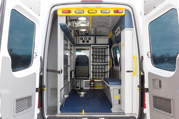 Back Mtn. Fire & EMS - Demers EXE Type II Ambulance - rear interior