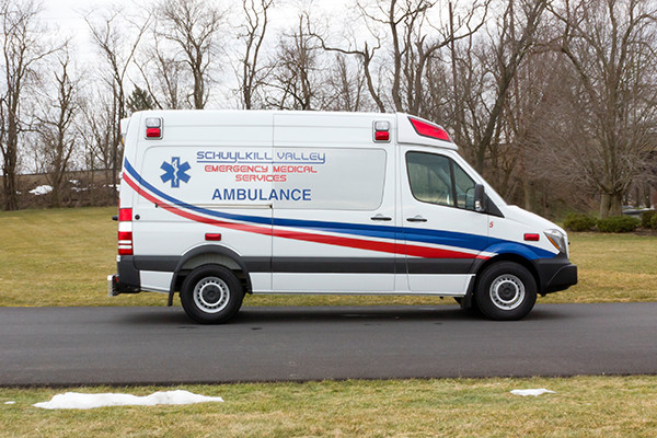 Schuylkill Valley EMS - Demers EXE Type II Ambulance - passenger side