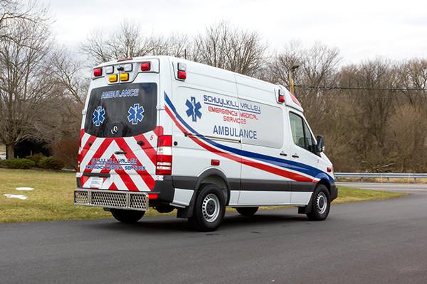 Schuylkill Valley EMS - Demers EXE Type II Ambulance - passenger rear