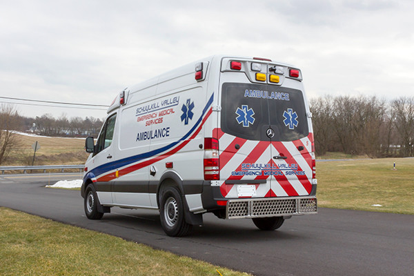 Schuylkill Valley EMS - Demers EXE Type II Ambulance - driver rear