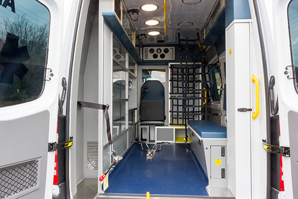 Schuylkill Valley EMS - Demers EXE Type II Ambulance - rear interior