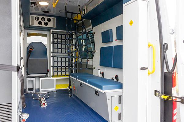 Schuylkill Valley EMS - Demers EXE Type II Ambulance - interior passenger