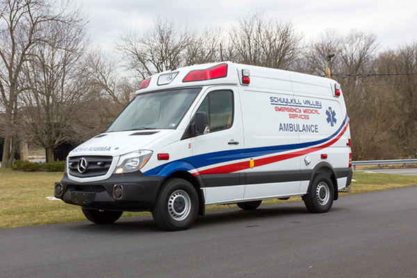 Schuylkill Valley EMS - Demers EXE Type II Ambulance - driver front