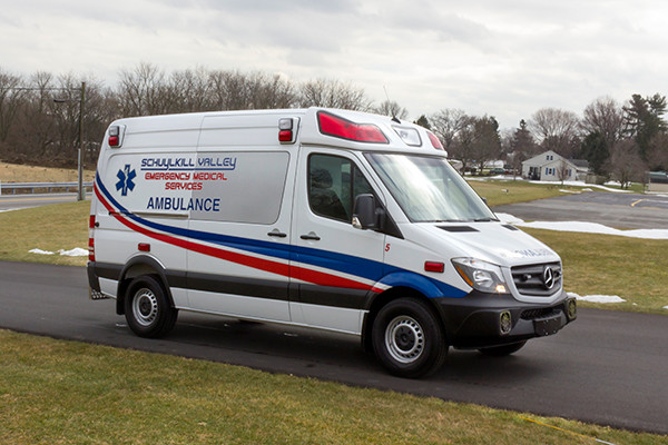 Schuylkill Valley EMS - Demers EXE Type II Ambulance - passenger front