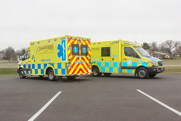 Cranberry Twp. EMS - Demers MX-152 Type III Ambulance - twins reflective