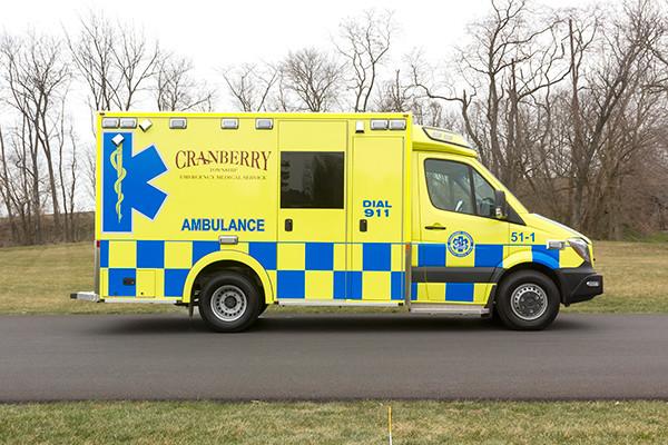 Cranberry Twp. EMS - Demers MX-152 Type III Ambulance - passenger side