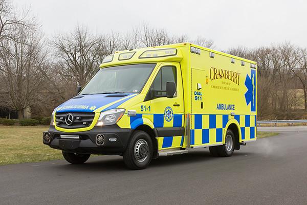 Cranberry Twp. EMS - Demers MX-152 Type III Ambulance - driver front