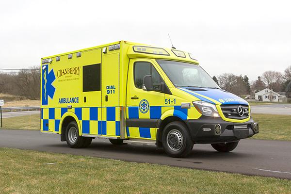 Cranberry Twp. EMS - Demers MX-152 Type III Ambulance - passenger front
