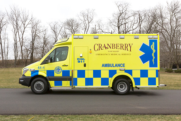 Cranberry Twp. EMS - Demers MX-152 Type III Ambulance - driver side