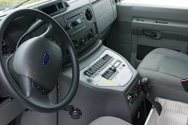 Schuylkill Valley EMS - Type III Ambulance Remount - cab interior