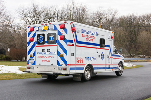 Schuylkill Valley EMS - Type III Ambulance Remount - passenger rear
