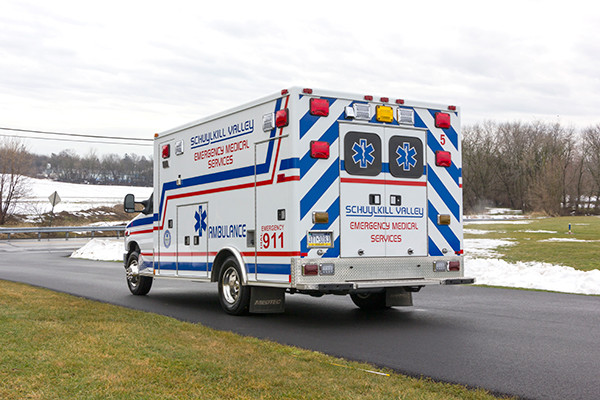 Schuylkill Valley EMS - Type III Ambulance Remount - driver rear
