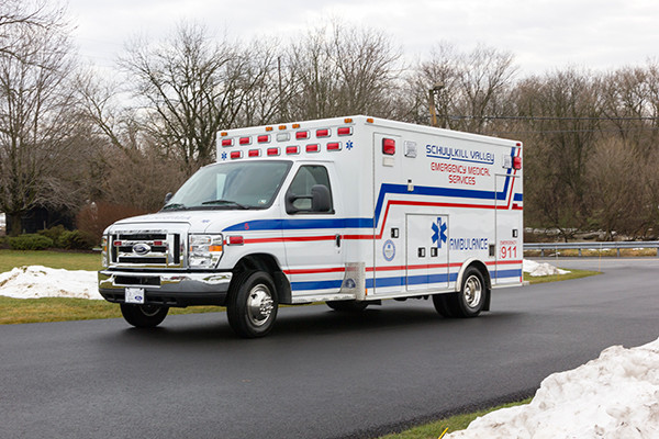 Schuylkill Valley EMS - Type III Ambulance Remount - driver front