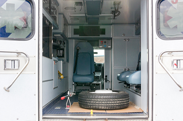 Schuylkill Valley EMS - Type III Ambulance Remount - rear interior