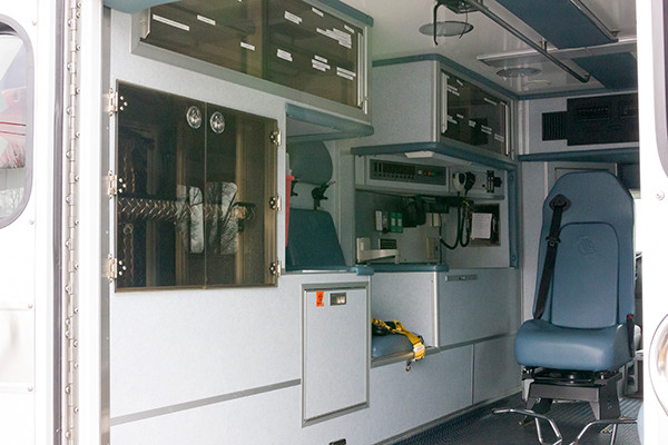 Schuylkill Valley EMS - Type III Ambulance Remount - interior driver side