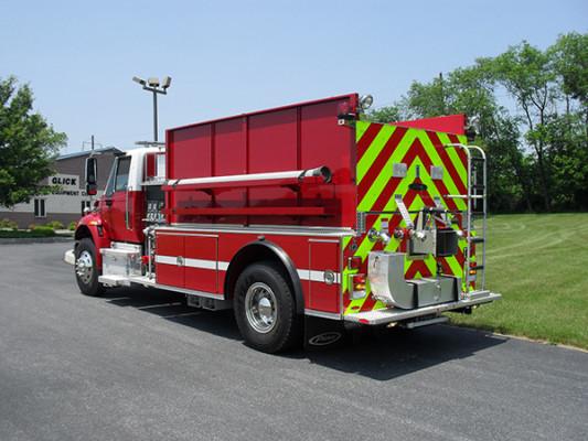 Fire Truck - 2011 Pierce International Dry Side Tanker - driver rear
