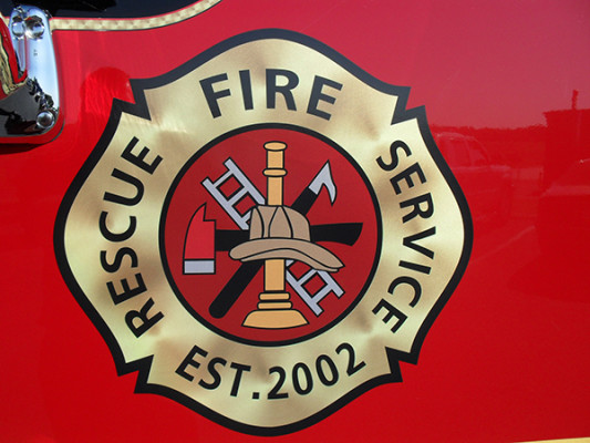 2011 Pierce Velocity Rescue Pumper - Fire Engine - emblem close up