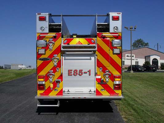 2011 Pierce Velocity Rescue Pumper - Fire Engine - rear