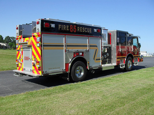 2011 Pierce Velocity Rescue Pumper - Fire Engine - passenger rear