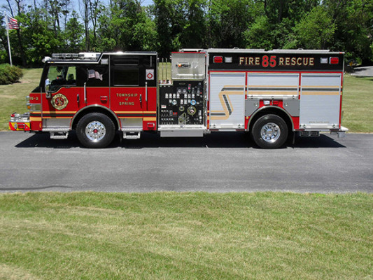 2011 Pierce Velocity Rescue Pumper - Fire Engine - driver side