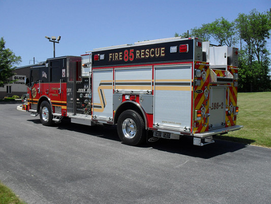 2011 Pierce Velocity Rescue Pumper - Fire Engine - driver rear