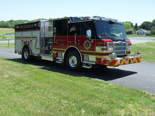 2011 Pierce Velocity Rescue Pumper - Fire Engine - passenger front