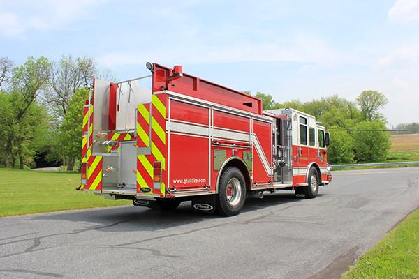 2014 Pierce Saber FR pumper - traditional fire engine - passenger rear