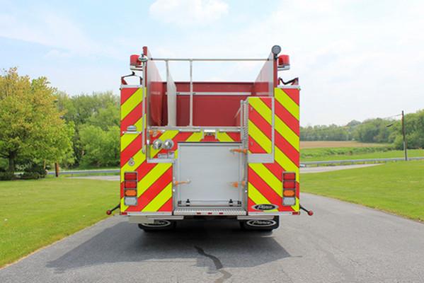 2014 Pierce Saber FR pumper - traditional fire engine - rear