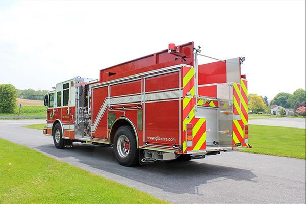 2014 Pierce Saber FR pumper - traditional fire engine - driver rear