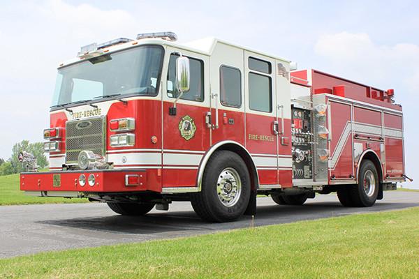 2014 Pierce Saber FR pumper - traditional fire engine - driver front