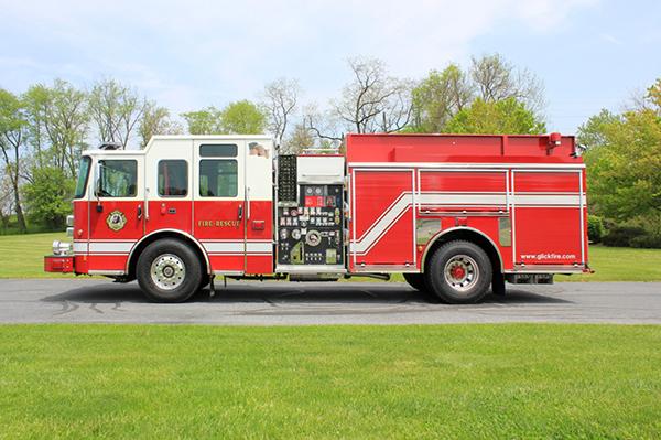 2014 Pierce Saber FR pumper - traditional fire engine - driver side