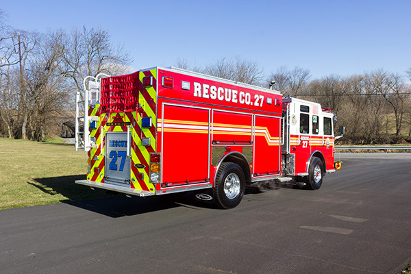 2015 Pierce Enforcer PUC pumper - fire engine - passenger rear
