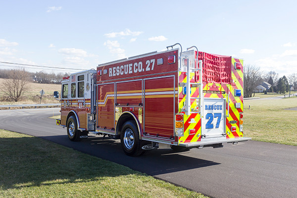 2015 Pierce Enforcer PUC pumper - fire engine - driver rear