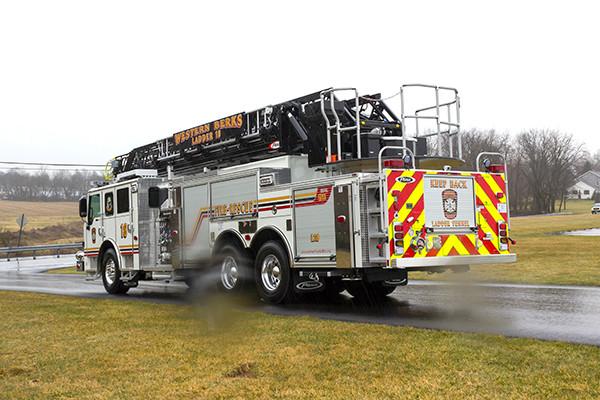 2016 Pierce Velocity Aerial Ladder - Ladder Fire Truck - driver rear