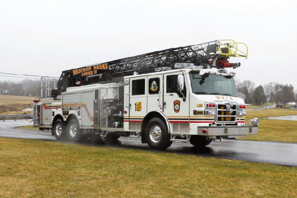 2016 Pierce Velocity Aerial Ladder - Ladder Fire Truck - passenger front