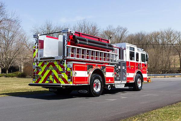 2016 Pierce Arrow XT pumper - fire engine - passenger rear