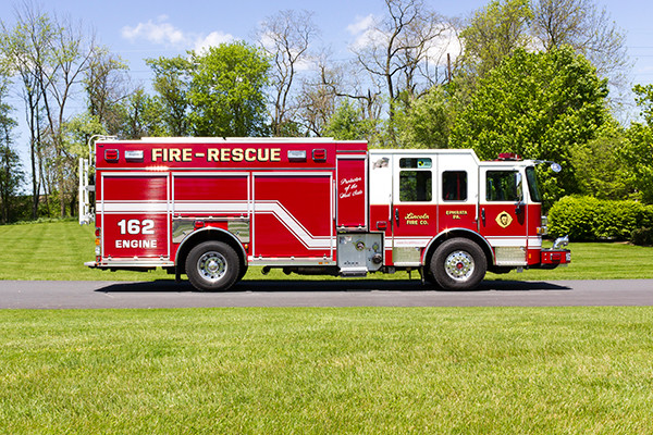 2016 Pierce Enforcer PUC - rescue pumper fire engine - passenger side