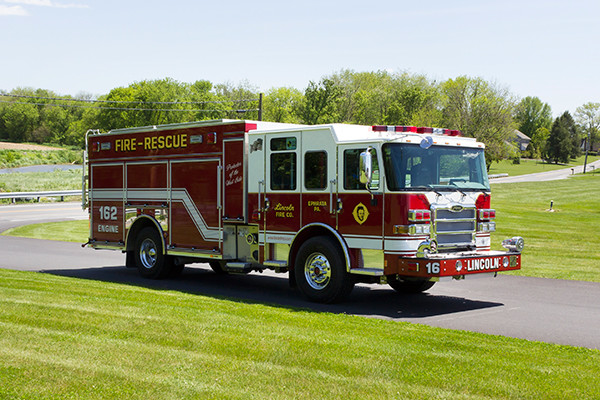 2016 Pierce Enforcer PUC - rescue pumper fire engine - passenger front
